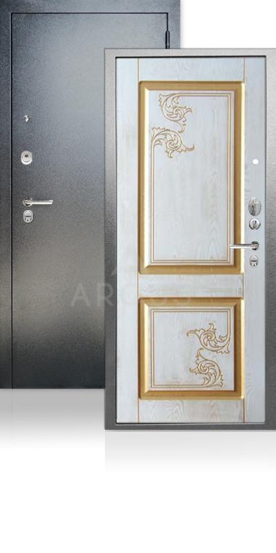 Входная дверь Аргус ДА-68 Флавия Антик серебро / Белое дерево