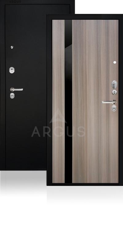 Дверь Аргус ДА-85/1 Соло Черный шелк / Керамика / стекло Кензо