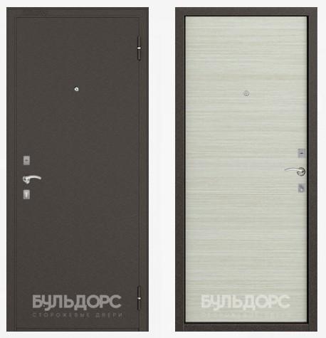 Дверь Бульдорс 10 Букле шоколад / Дуб белый