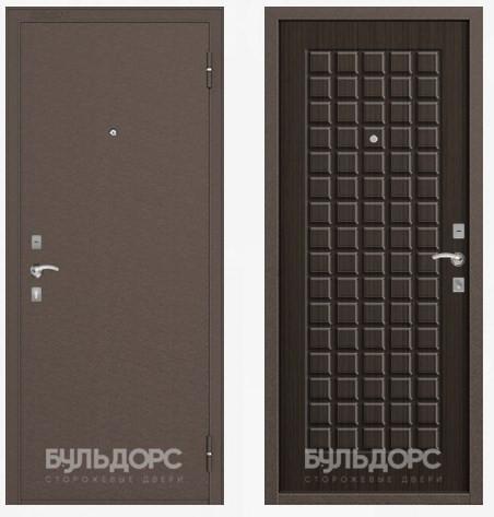 Дверь Бульдорс 10С Медь / Ларче шоколад