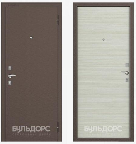 Дверь Бульдорс 10 Медь / Дуб белый