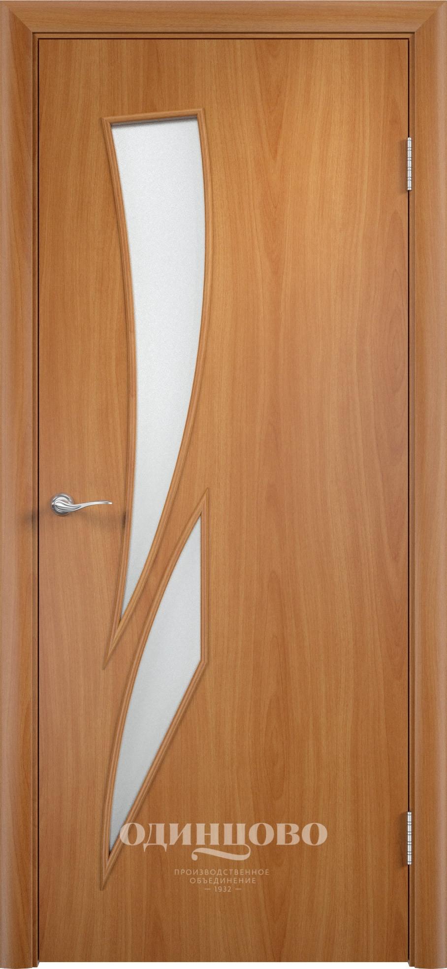 Дверь ламинат Верда С-2 ДО Миланский Орех