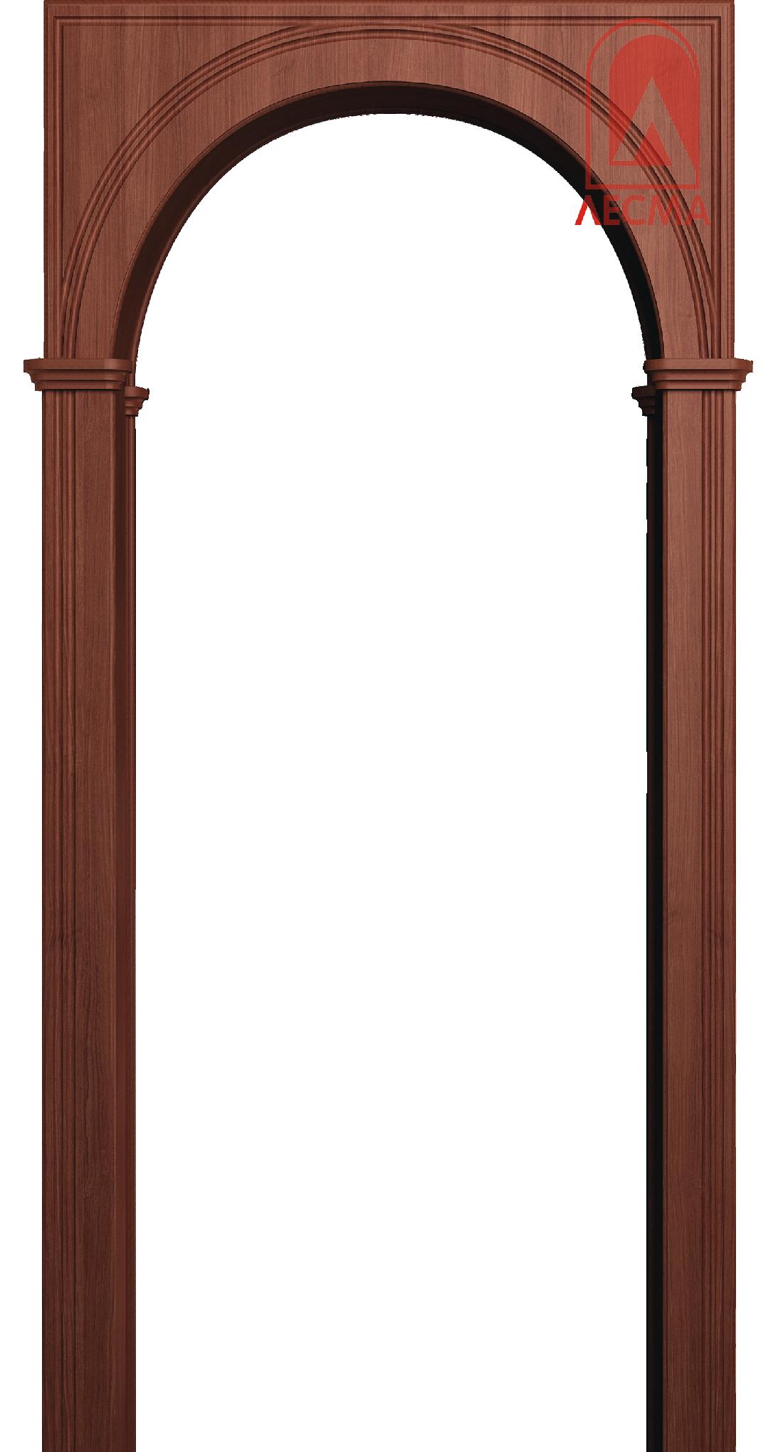 Межкомнатная арка Лесма Палермо МДФ-ПВХ Итальянский орех (ПОСЛЕДНИЙ РАЗМЕР ПО АКЦИИ)