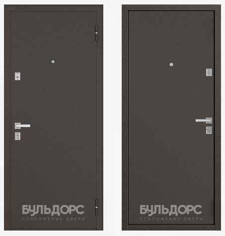 Дверь Бульдорс Steel-12 Букле шоколад