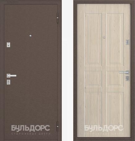 Дверь Бульдорс 12С Медь / Дуб выбеленный фрезеровка С-2