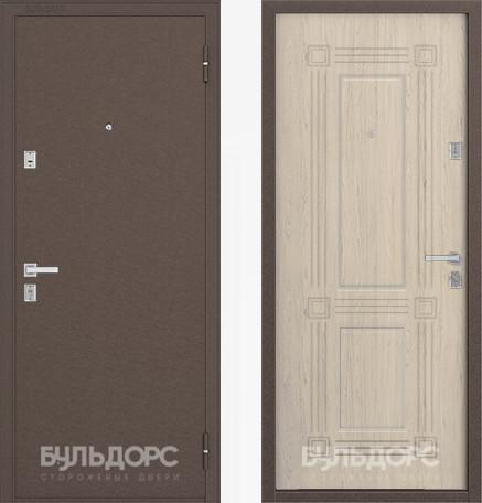 Дверь Бульдорс 12С Медь / Дуб выбеленный фрезеровка С-4