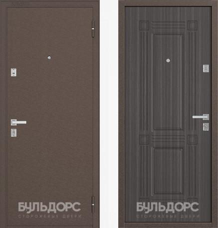 Входная дверь Бульдорс 12С Медь / Дуб Седой фрезеровка С-4