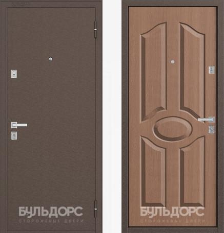 Входная дверь Бульдорс 12С Медь / Карамель фрезеровка С-1