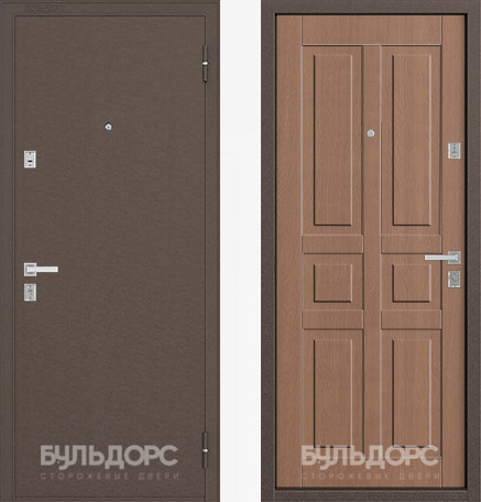 Дверь Бульдорс 12С Медь / Карамель фрезеровка С-2