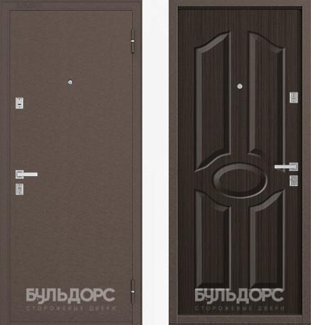 Дверь Бульдорс 12С Медь / Ларче шоколад фрезеровка С-1