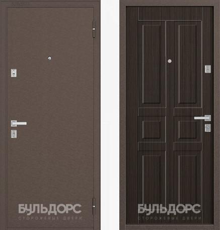 Дверь Бульдорс 12С Медь / Ларче шоколад фрезеровка С-2