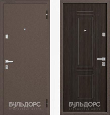 Дверь Бульдорс 12С Медь / Ларче шоколад фрезеровка С-4