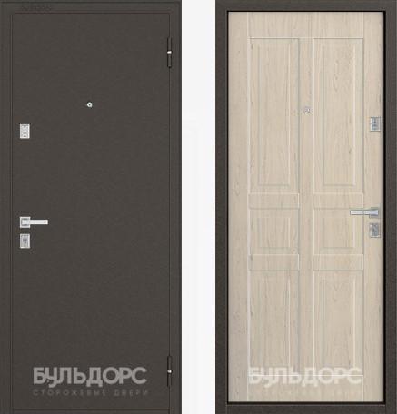 Дверь Бульдорс 12С Букле шоколад / Дуб выбеленный фрезеровка С-2