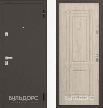 Дверь Бульдорс 12С Букле шоколад / Дуб выбеленный фрезеровка С-4