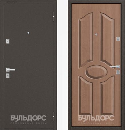Дверь Бульдорс 12С Букле шоколад / Карамель фрезеровка С-1