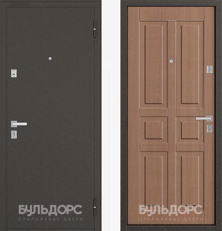 Дверь Бульдорс 12С Букле шоколад / Карамель фрезеровка С-2