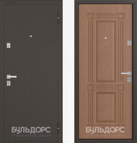 Дверь Бульдорс 12С Букле шоколад / Карамель фрезеровка С-4