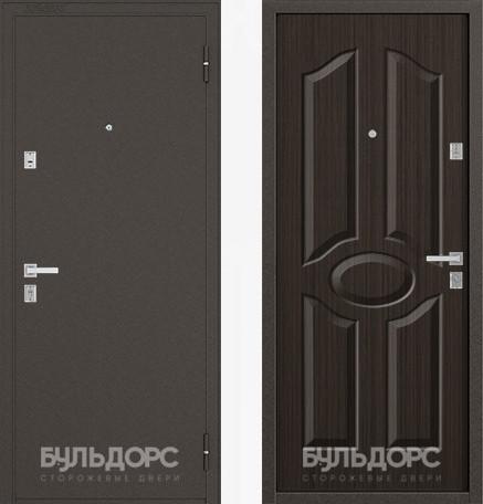 Дверь Бульдорс 12С Букле шоколад / Ларче шоколад фрезеровка С-1