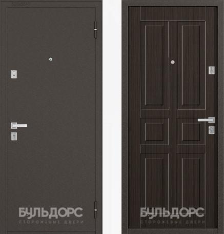 Дверь Бульдорс 12С Букле шоколад / Ларче шоколад фрезеровка С-2