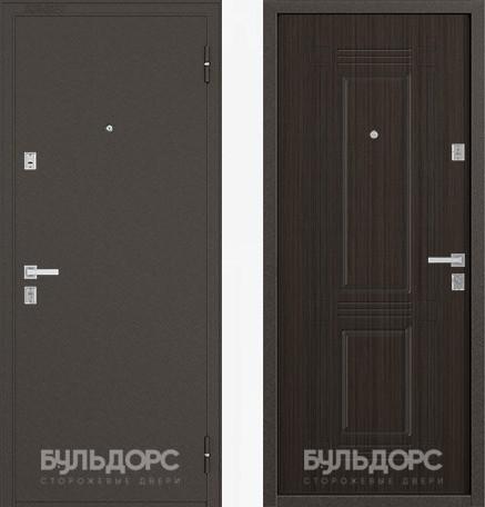 Дверь Бульдорс 12С Букле шоколад / Ларче шоколад фрезеровка С-4