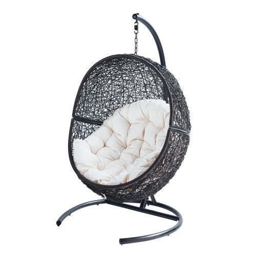 Подвесное кресло из ротанга BiGarden Lunar Black