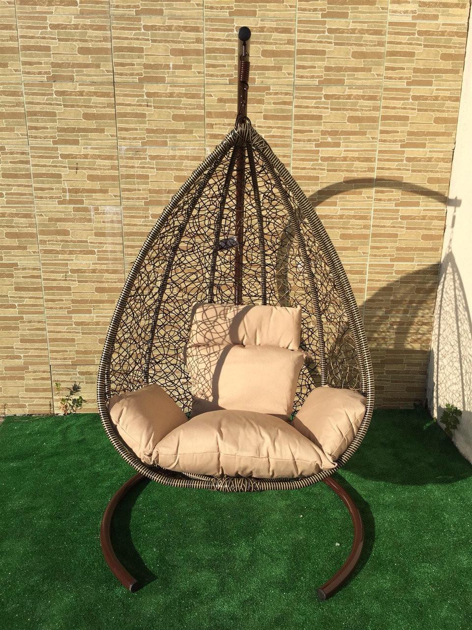 Подвесное кресло из ротанга BiGarden Sakala Coffee