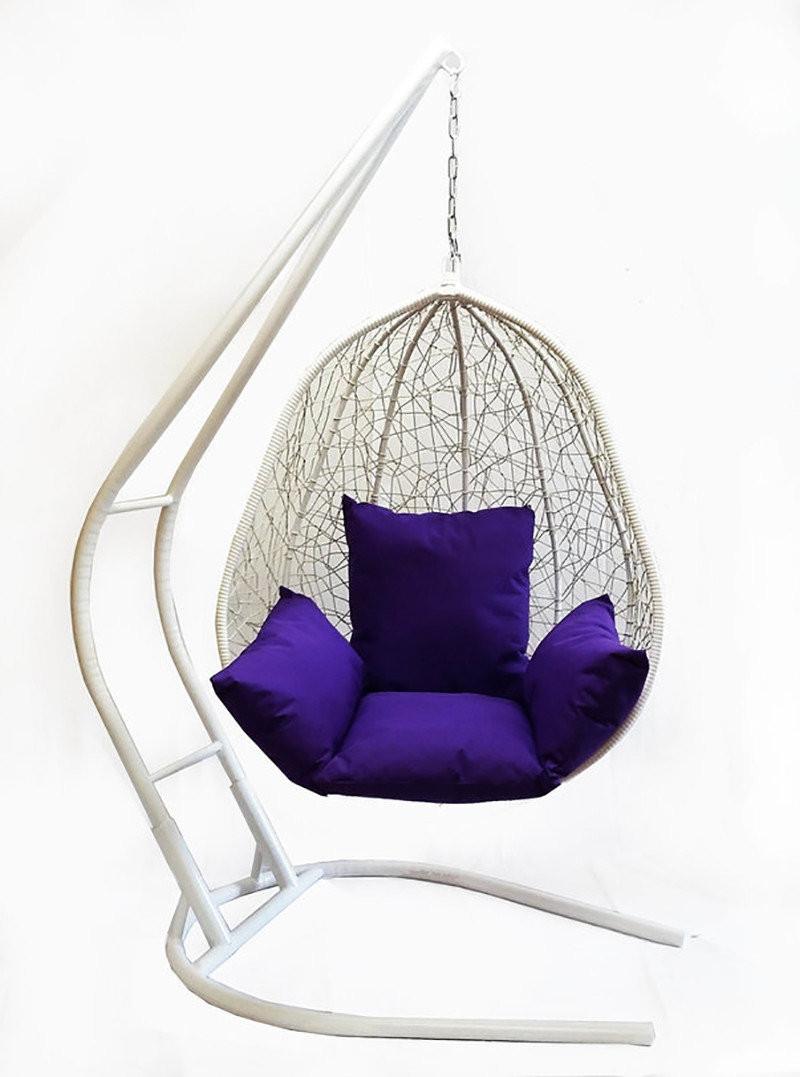 Подвесное кресло из ротанга BiGarden Kapri White