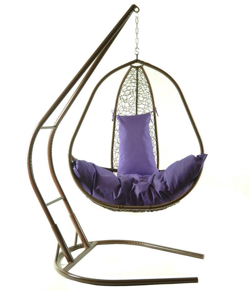 Подвесное кресло из ротанга BiGarden Korfu Braun