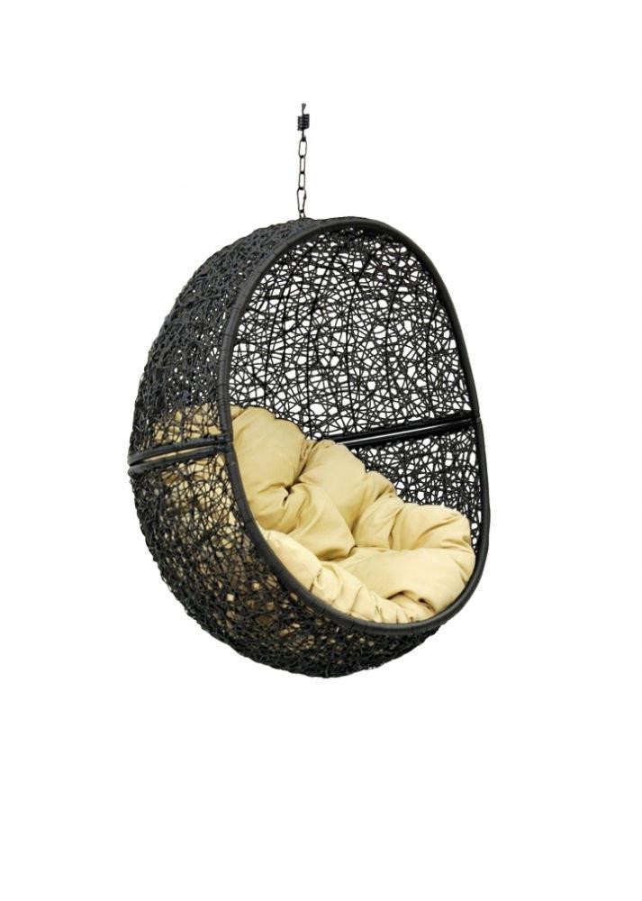 Чаша для подвесного кресла из ротанга BiGarden Lunar Black BS