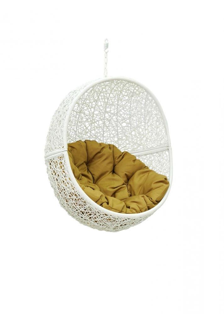 Чаша для подвесного кресла из ротанга BiGarden Lunar White BS
