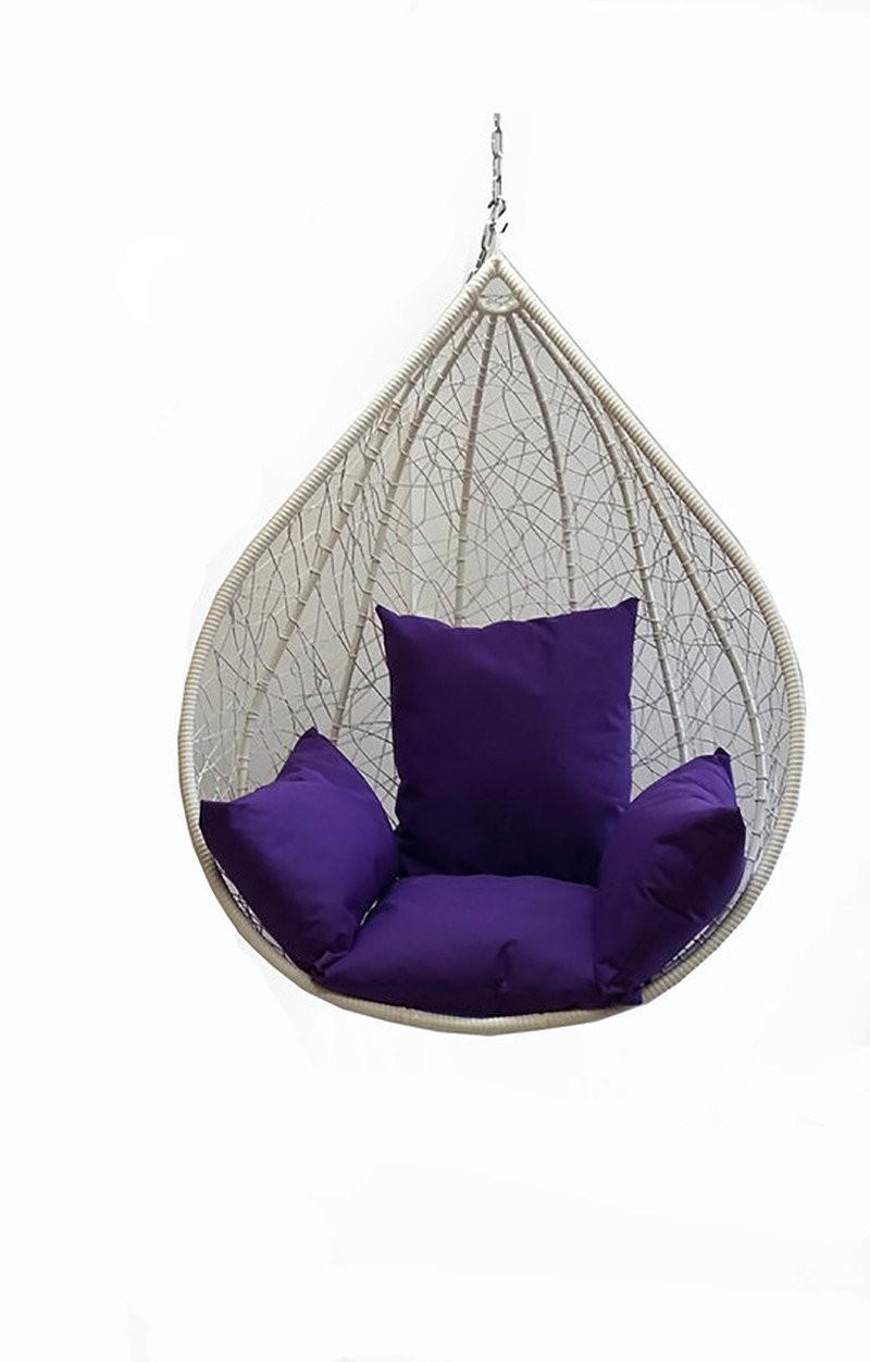 Чаша для подвесного кресла из ротанга BiGarden Alanya White BS