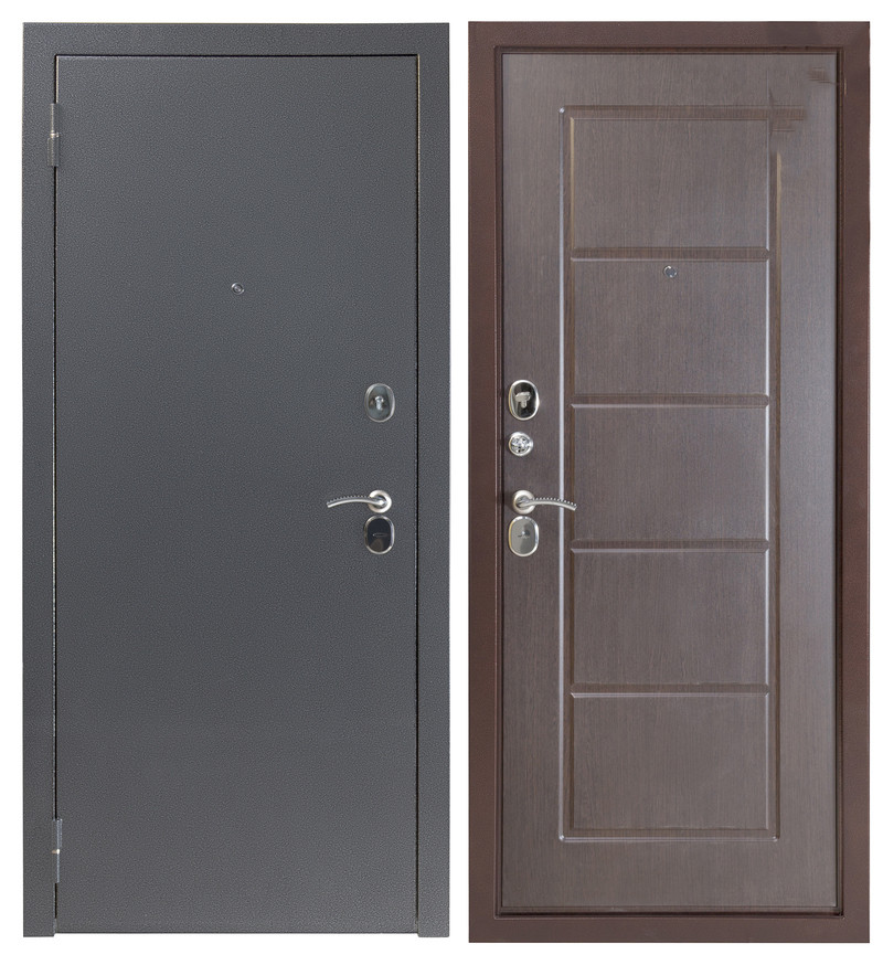 Дверь Sidoorov S 80 3к Антик серебро / Ника Венге