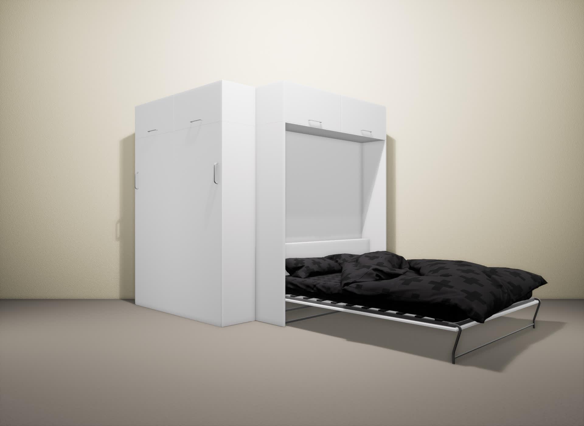 Шкаф-кровать SMART HOME Альфа белый/белый