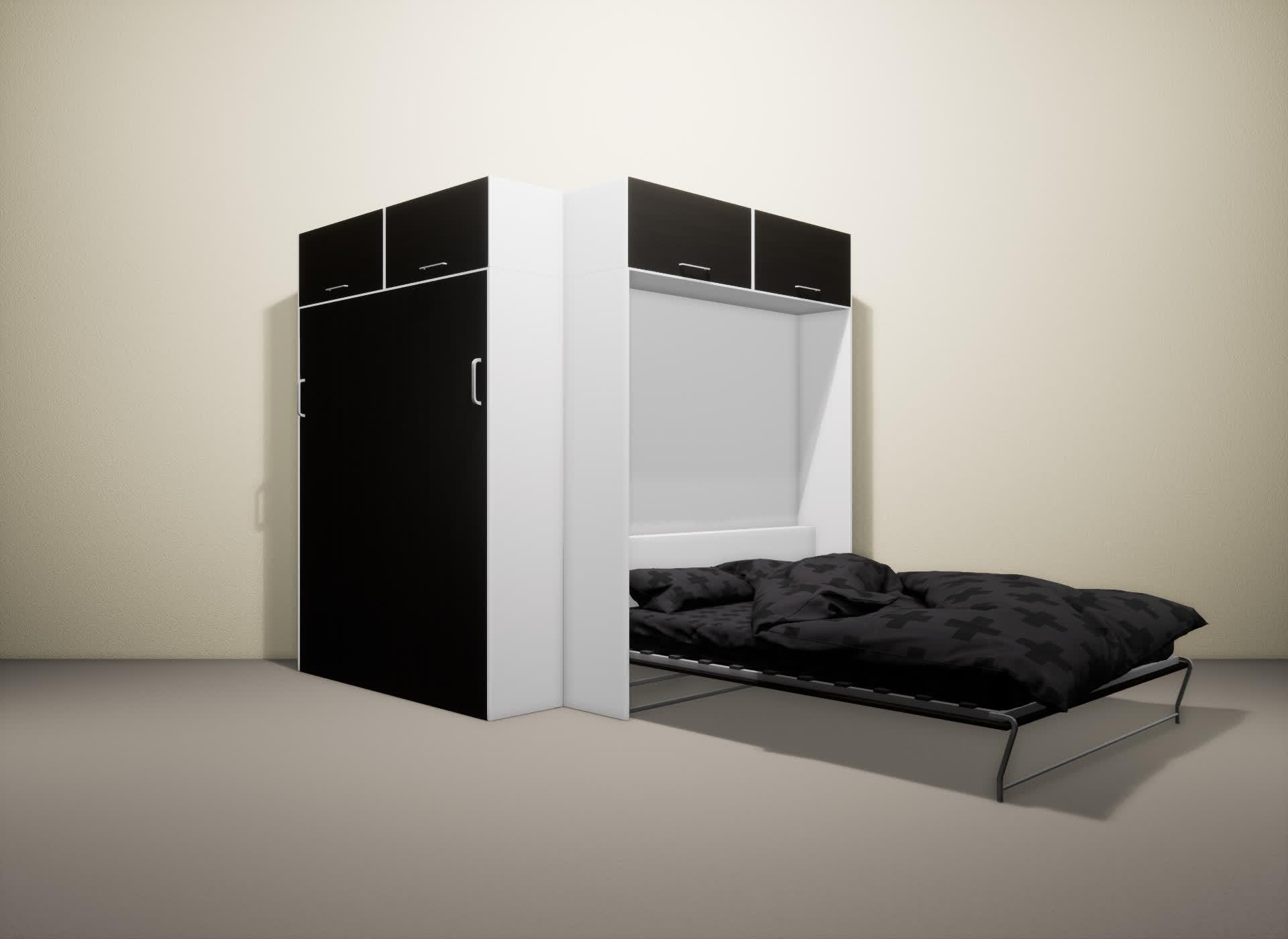 Шкаф-кровать SMART HOME Альфа белый/венге