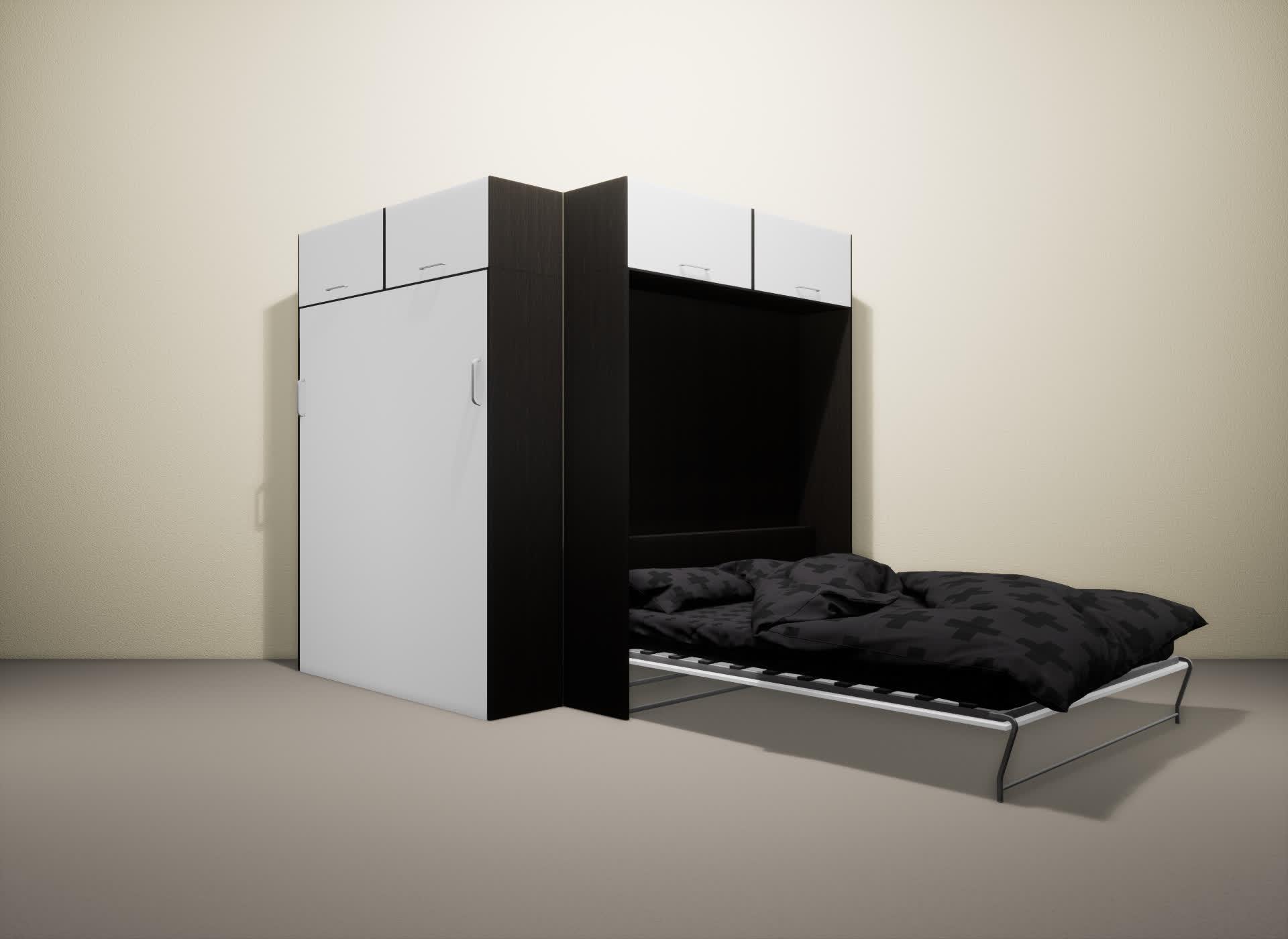 Шкаф-кровать SMART HOME Альфа венге/белый