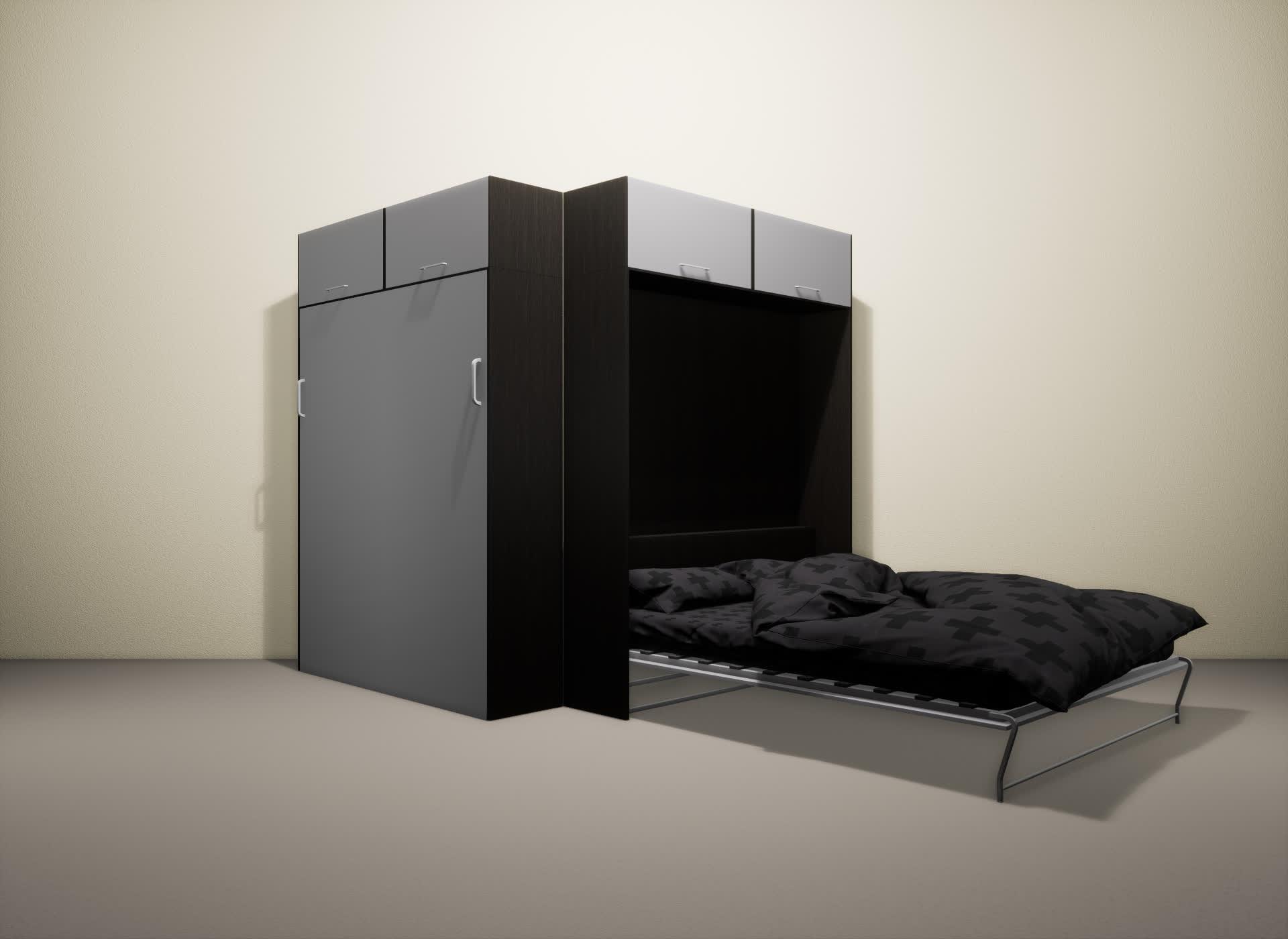 Шкаф-кровать SMART HOME Альфа венге/серый