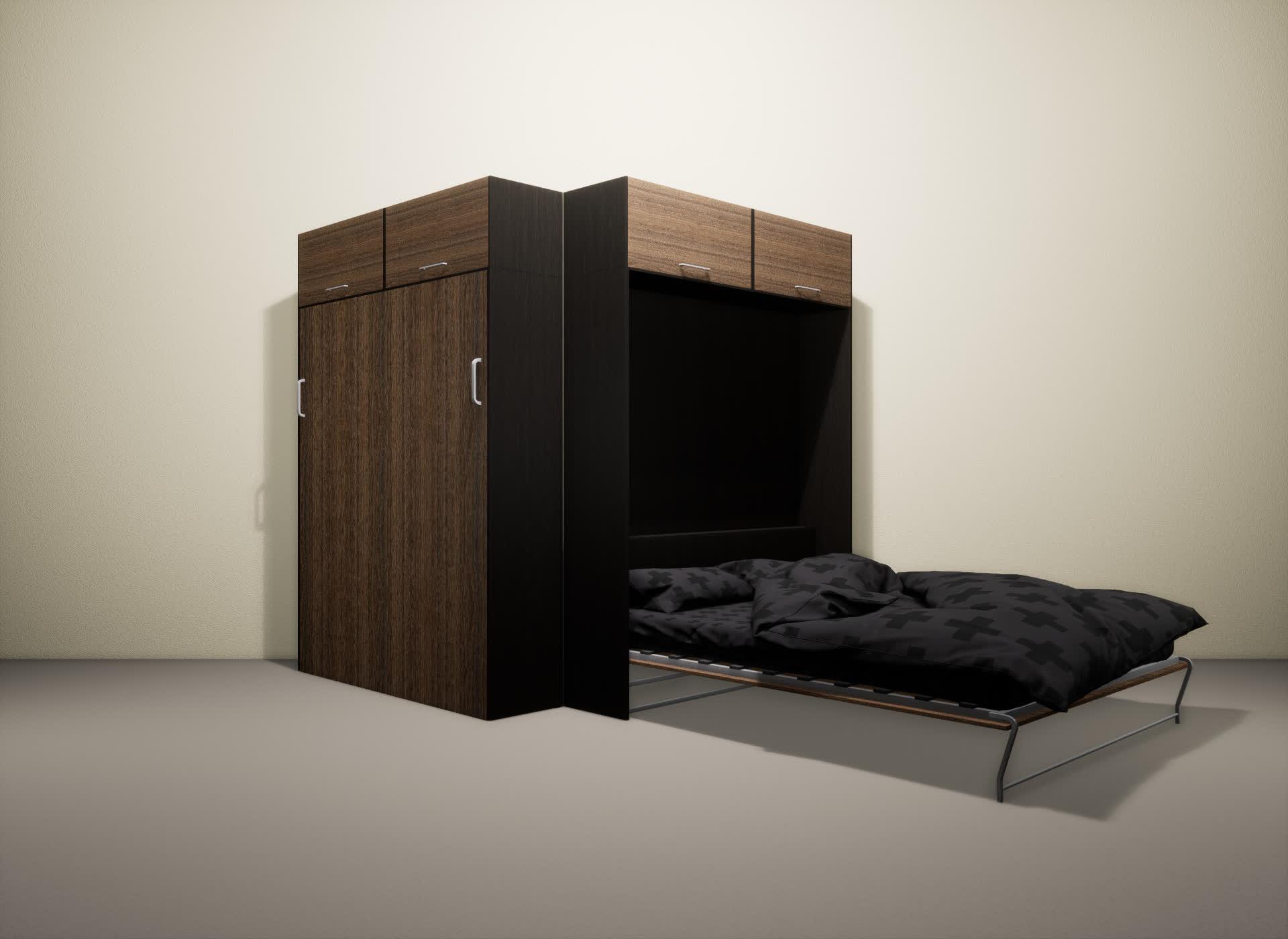 Шкаф-кровать SMART HOME Альфа венге/шамони