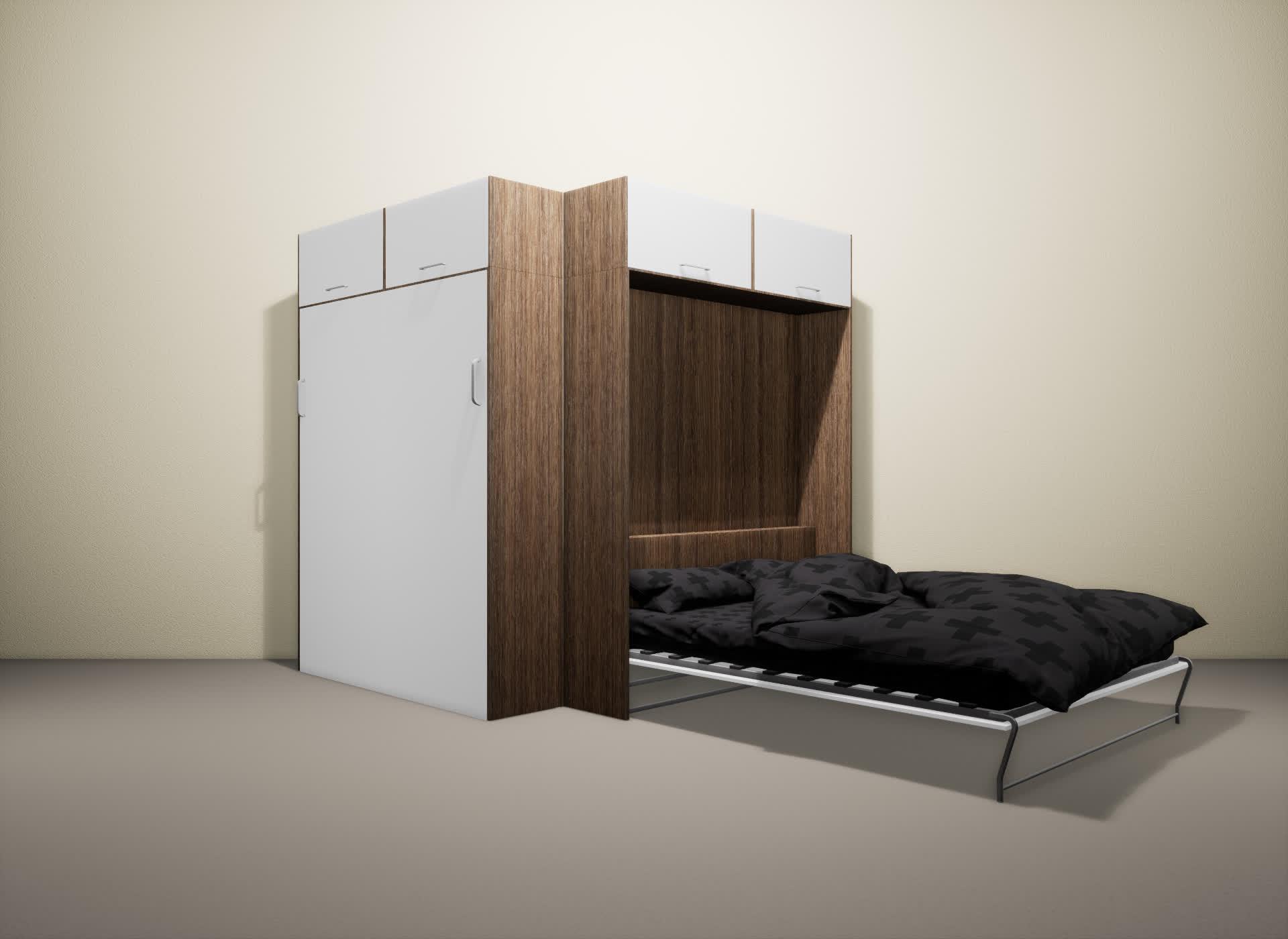 Шкаф-кровать SMART HOME Альфа шамони/белый