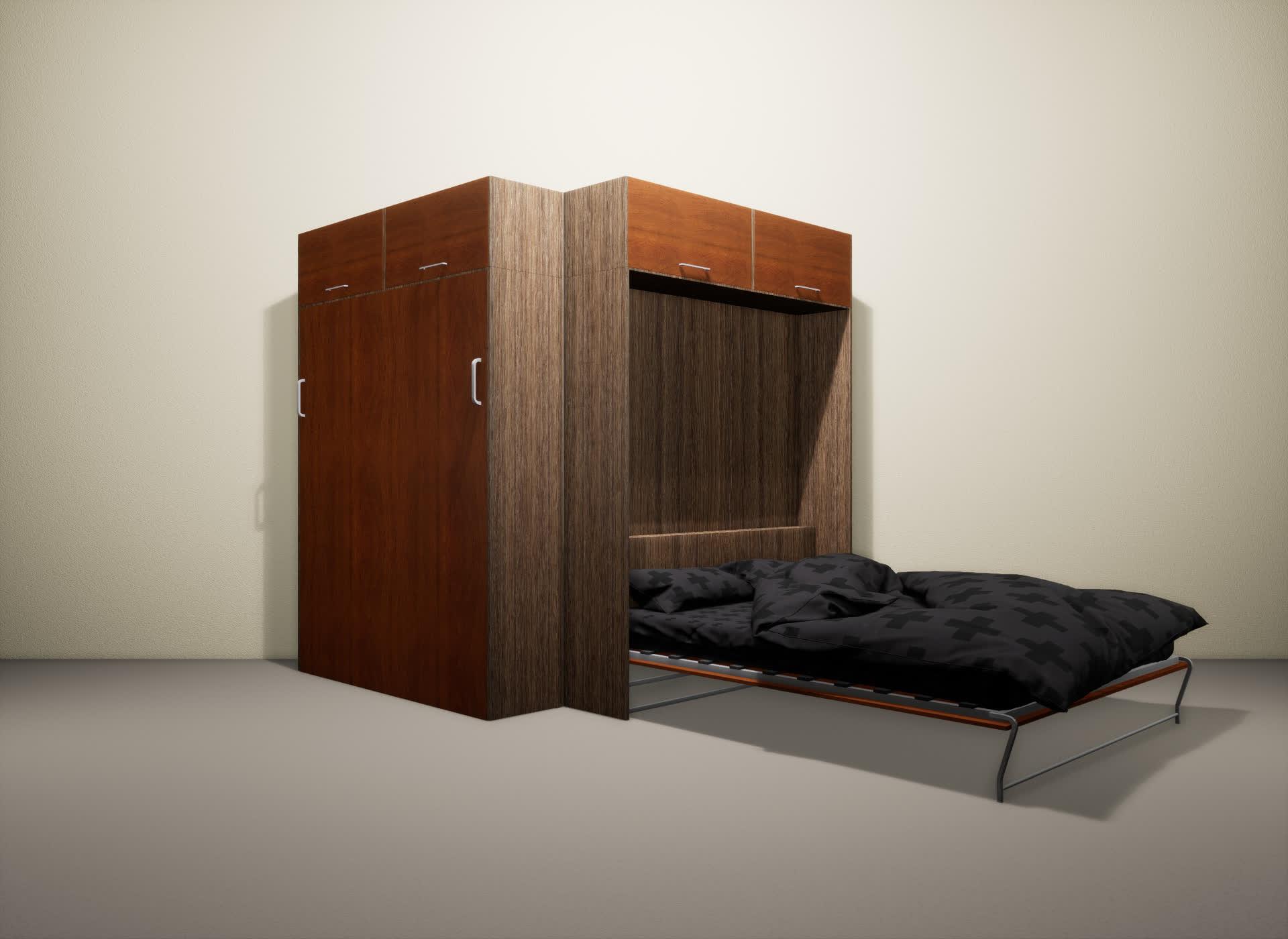 Шкаф-кровать SMART HOME Альфа шамони/яблоня