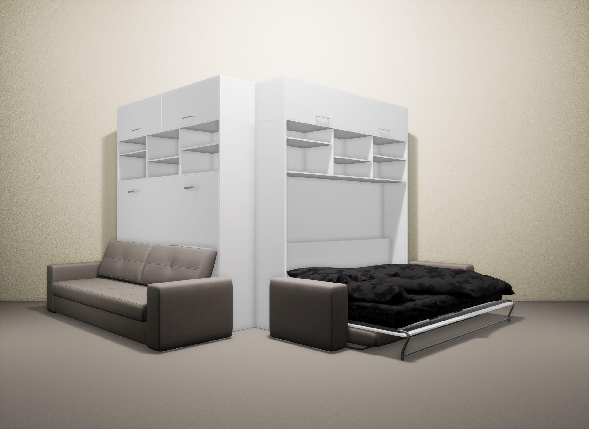 Шкаф-кровать SMART HOME Бетта белый/белый