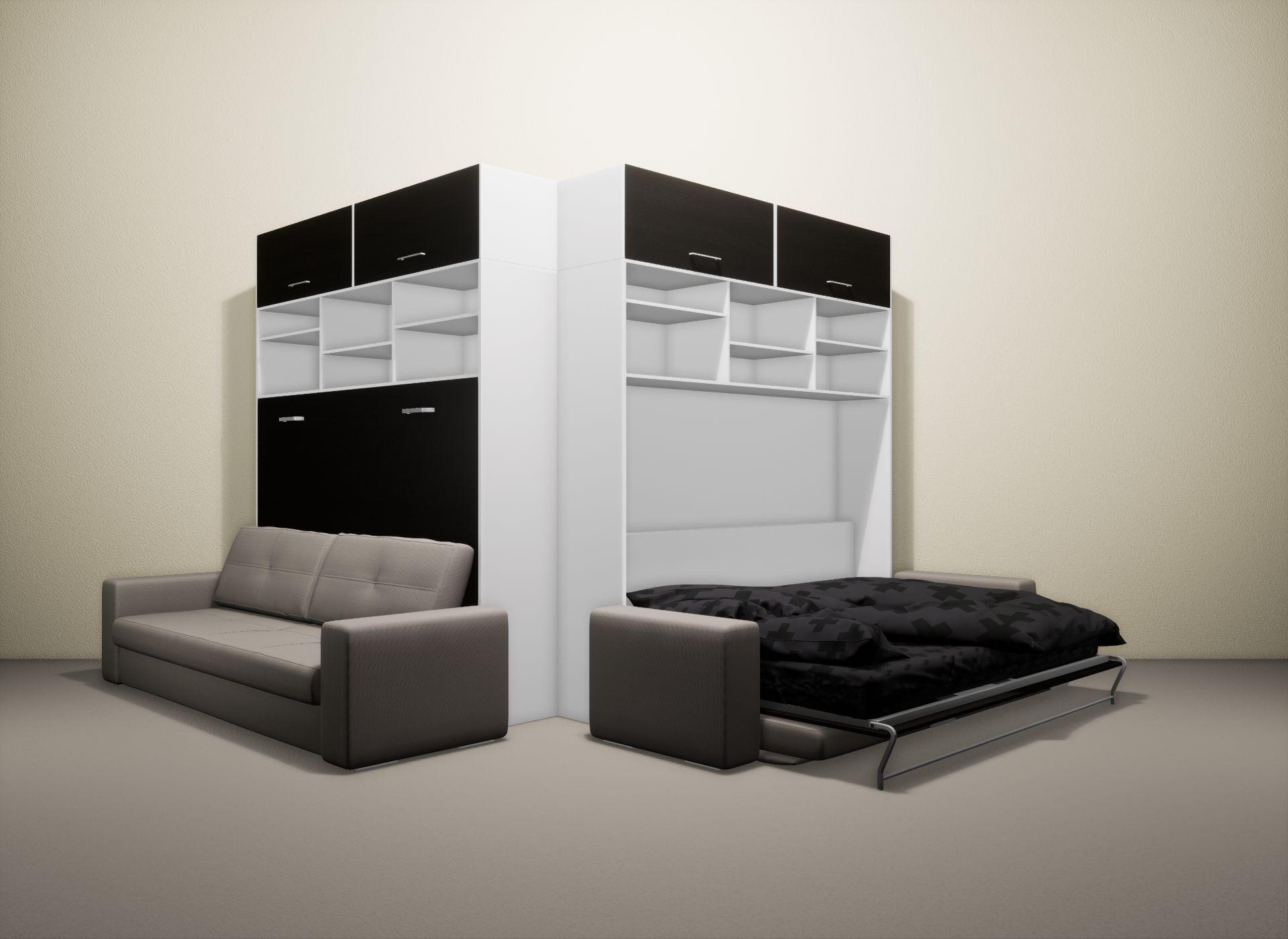 Шкаф-кровать SMART HOME Бетта белый/венге