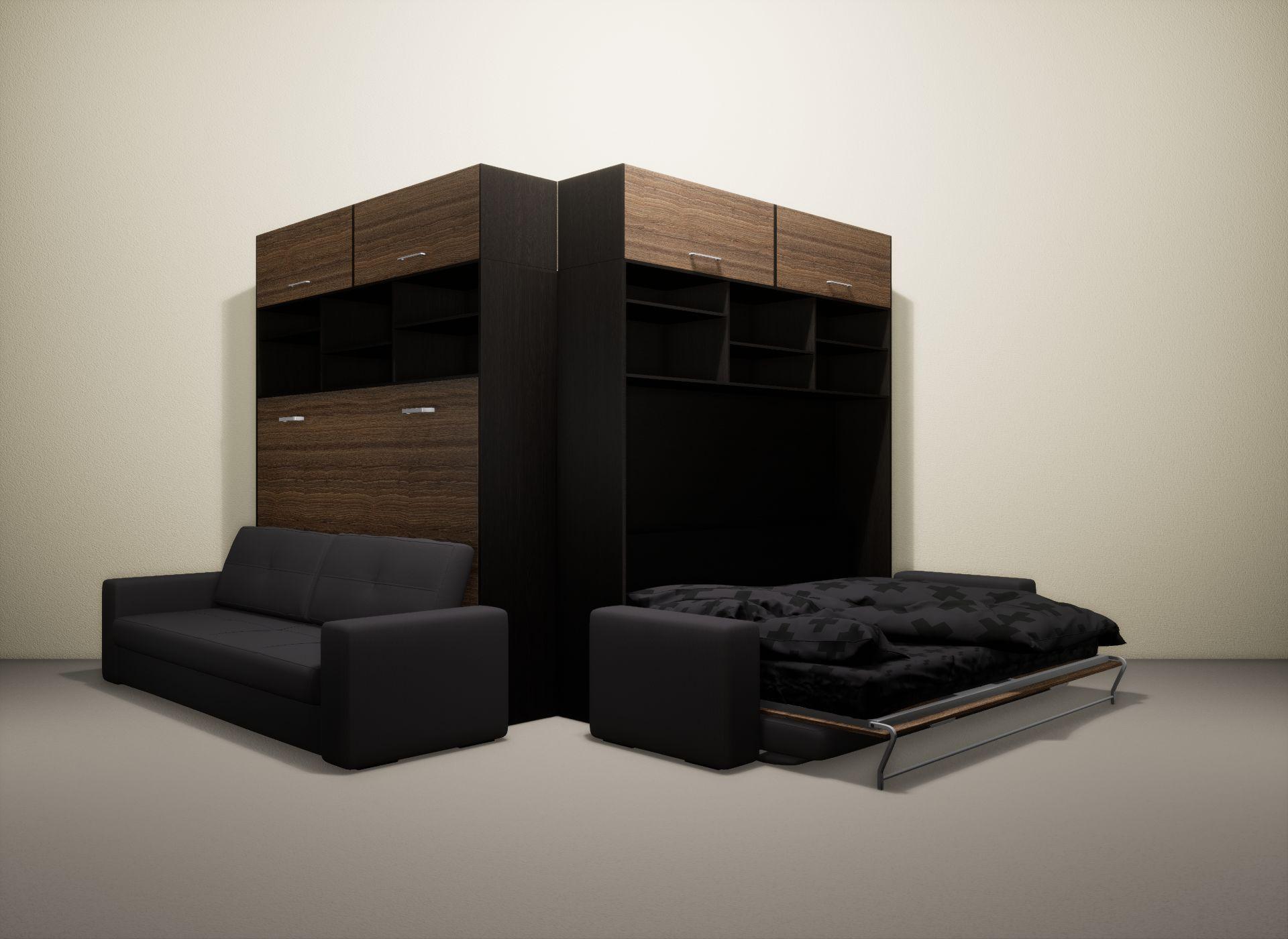 Шкаф-кровать SMART HOME Бетта венге/шамони