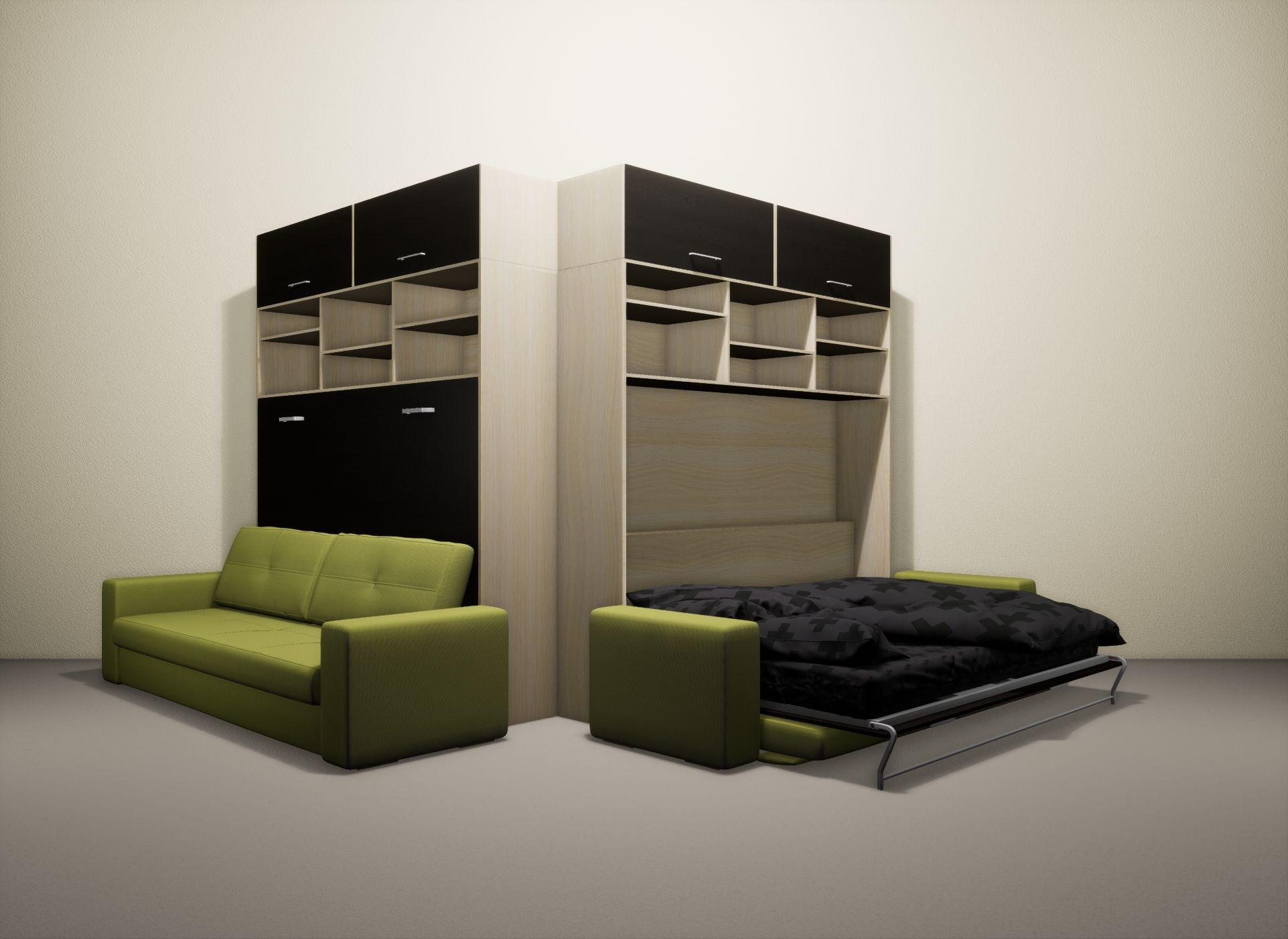 Шкаф-кровать SMART HOME Бетта молочный дуб/венге