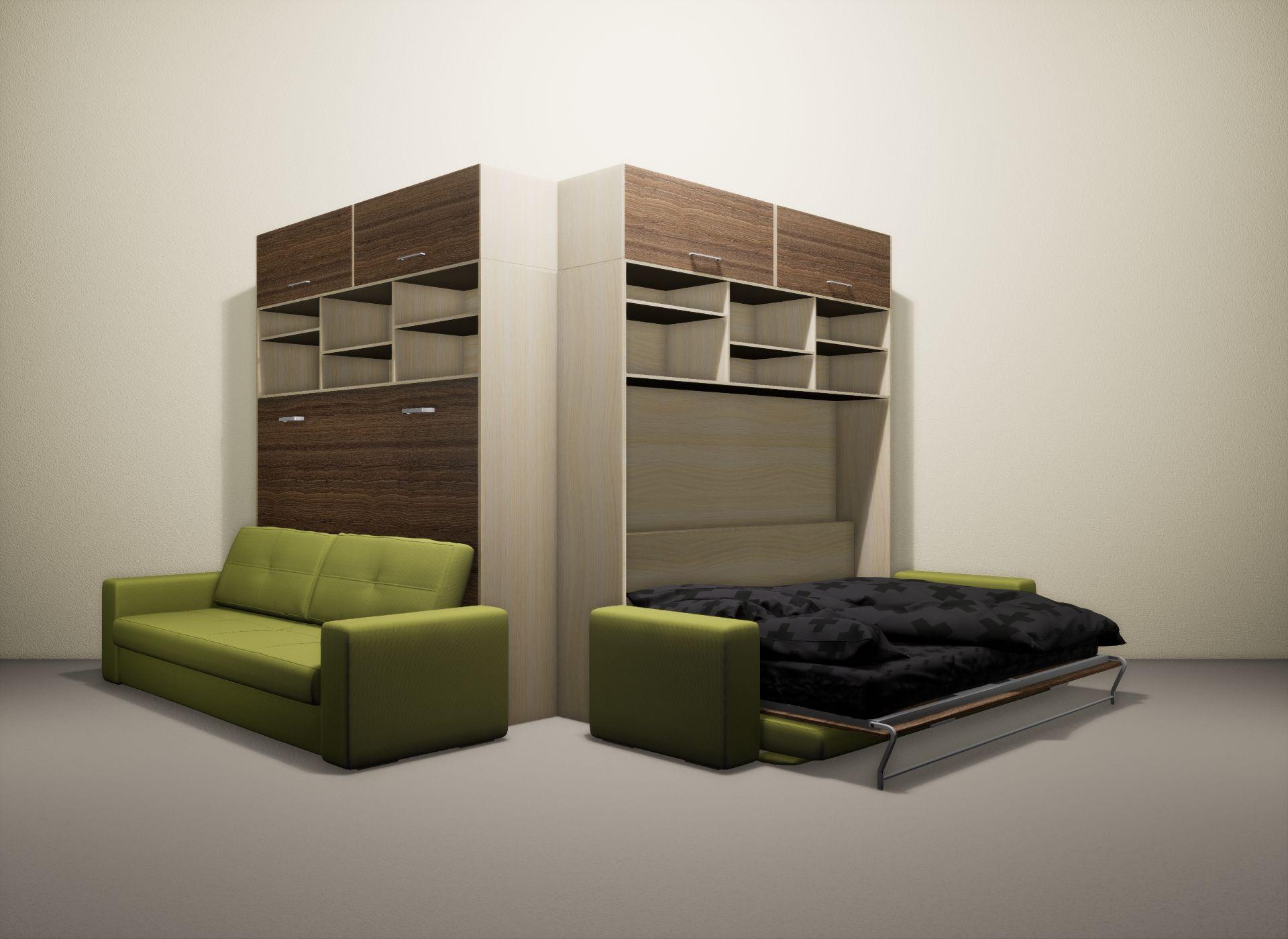 Шкаф-кровать SMART HOME Бетта молочный дуб/шамони
