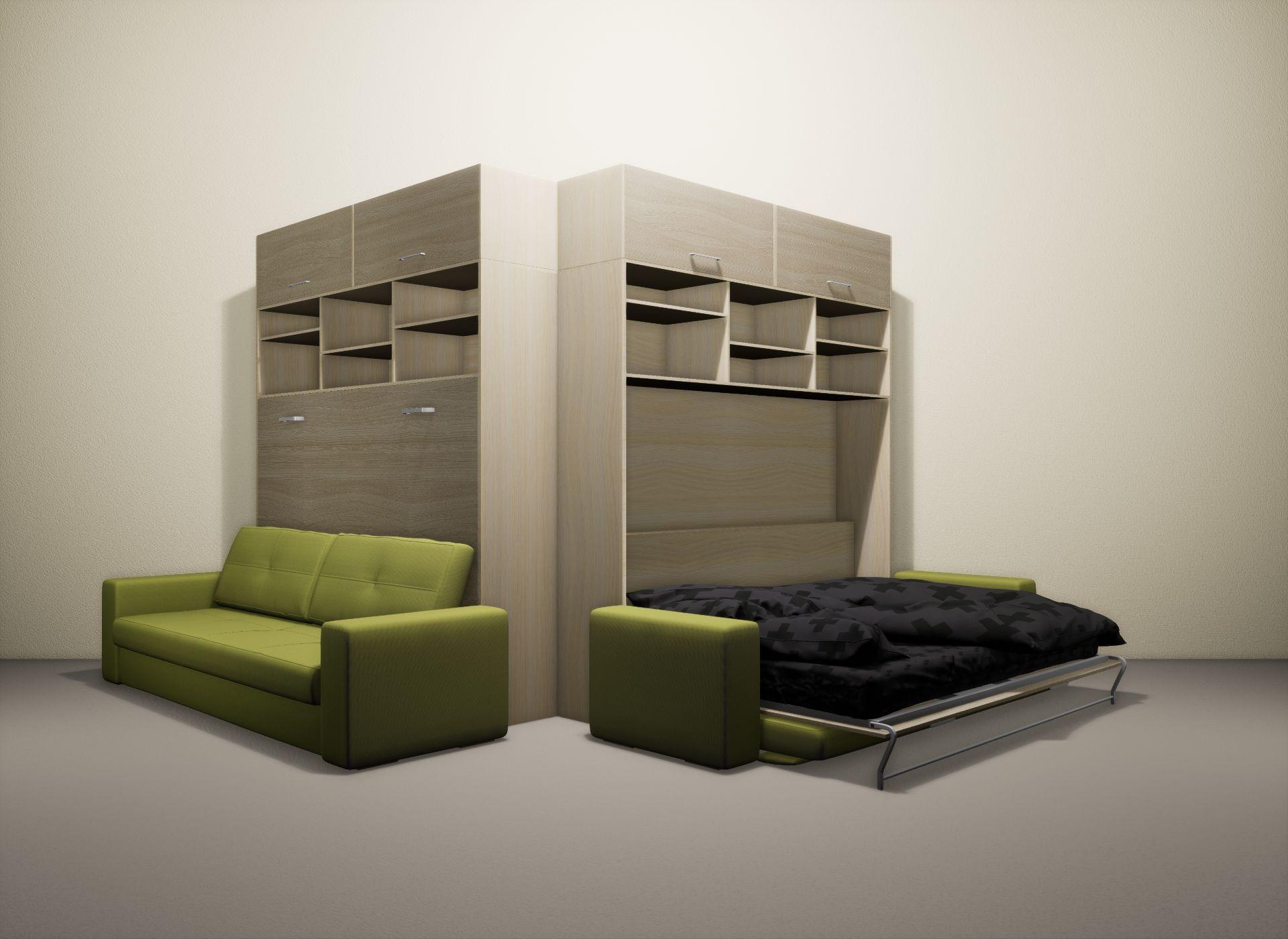 Шкаф-кровать SMART HOME Бетта молочный дуб/ясень
