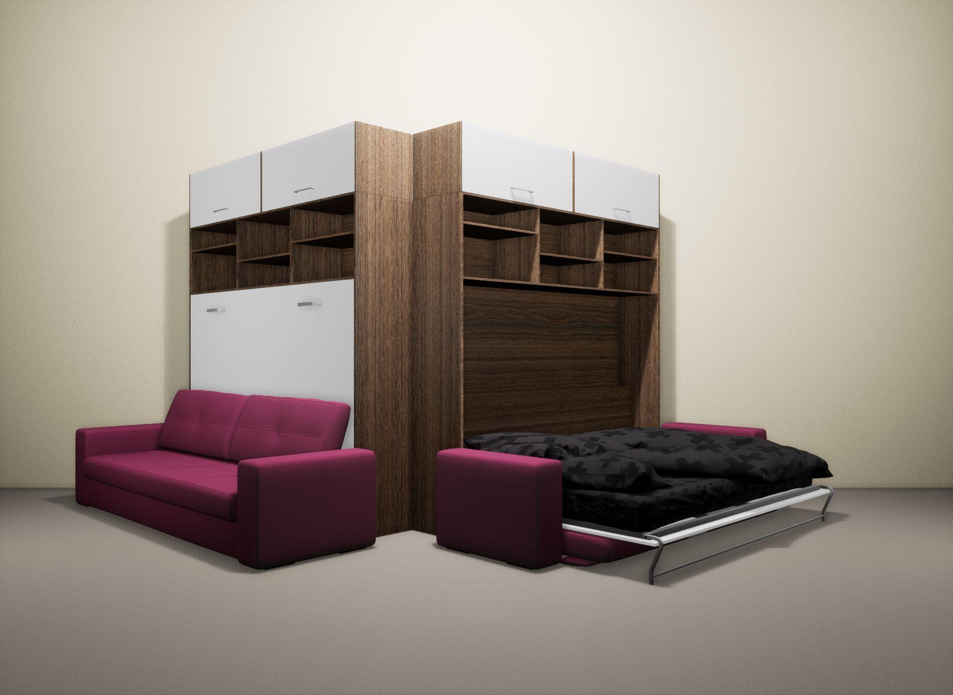 Шкаф-кровать SMART HOME Бетта шамони/белый