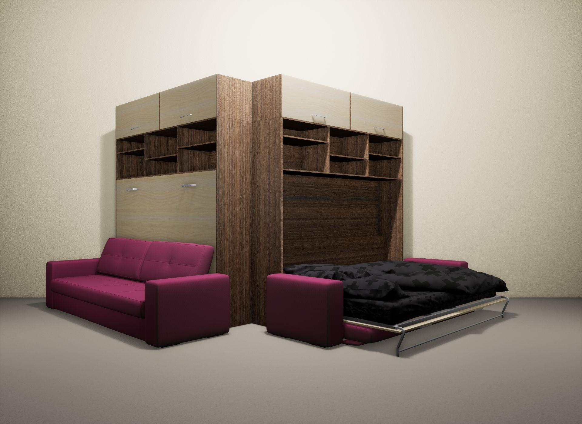 Шкаф-кровать SMART HOME Бетта шамони/молочный дуб