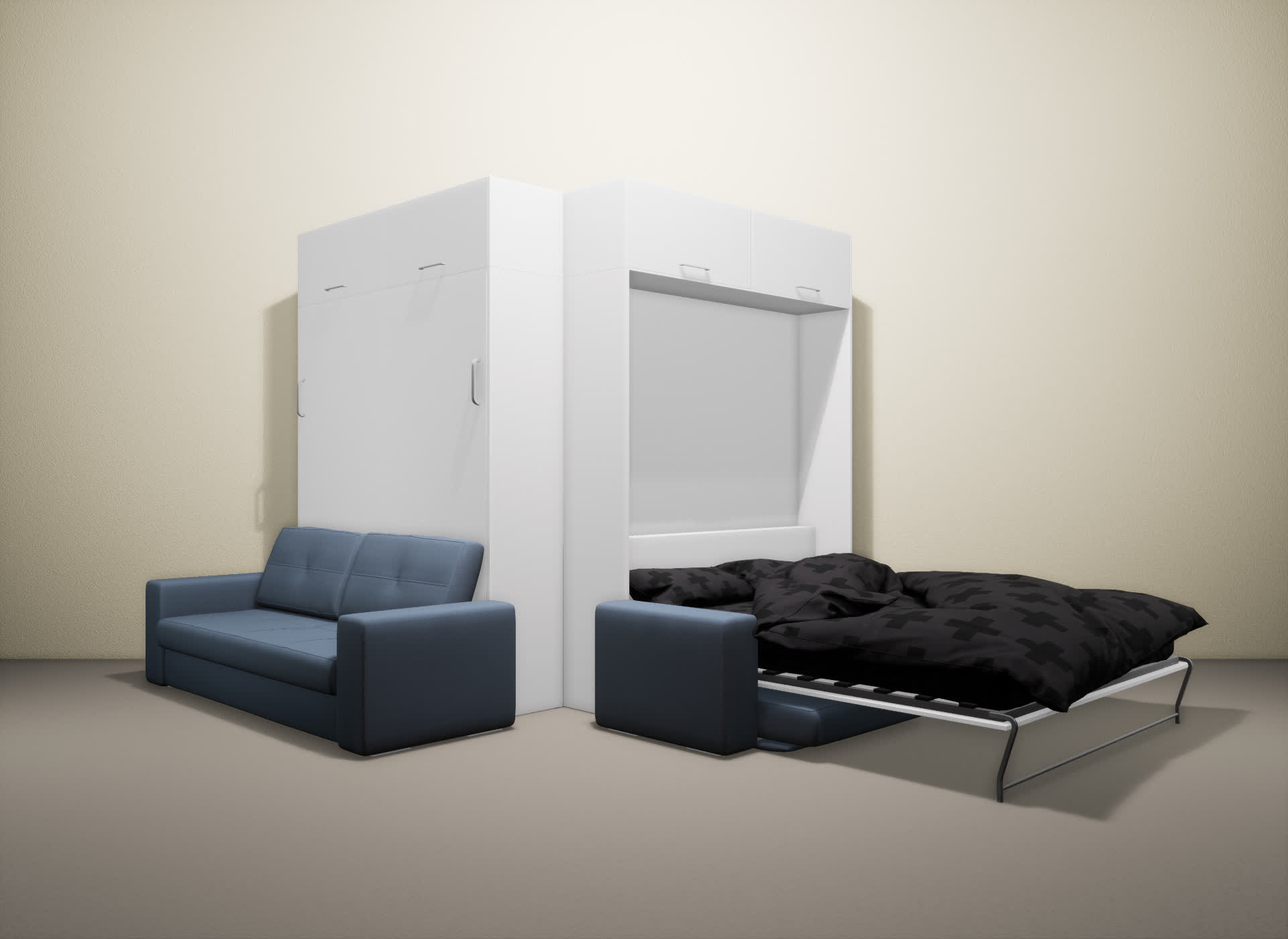 Шкаф-кровать SMART HOME Гамма белый/белый