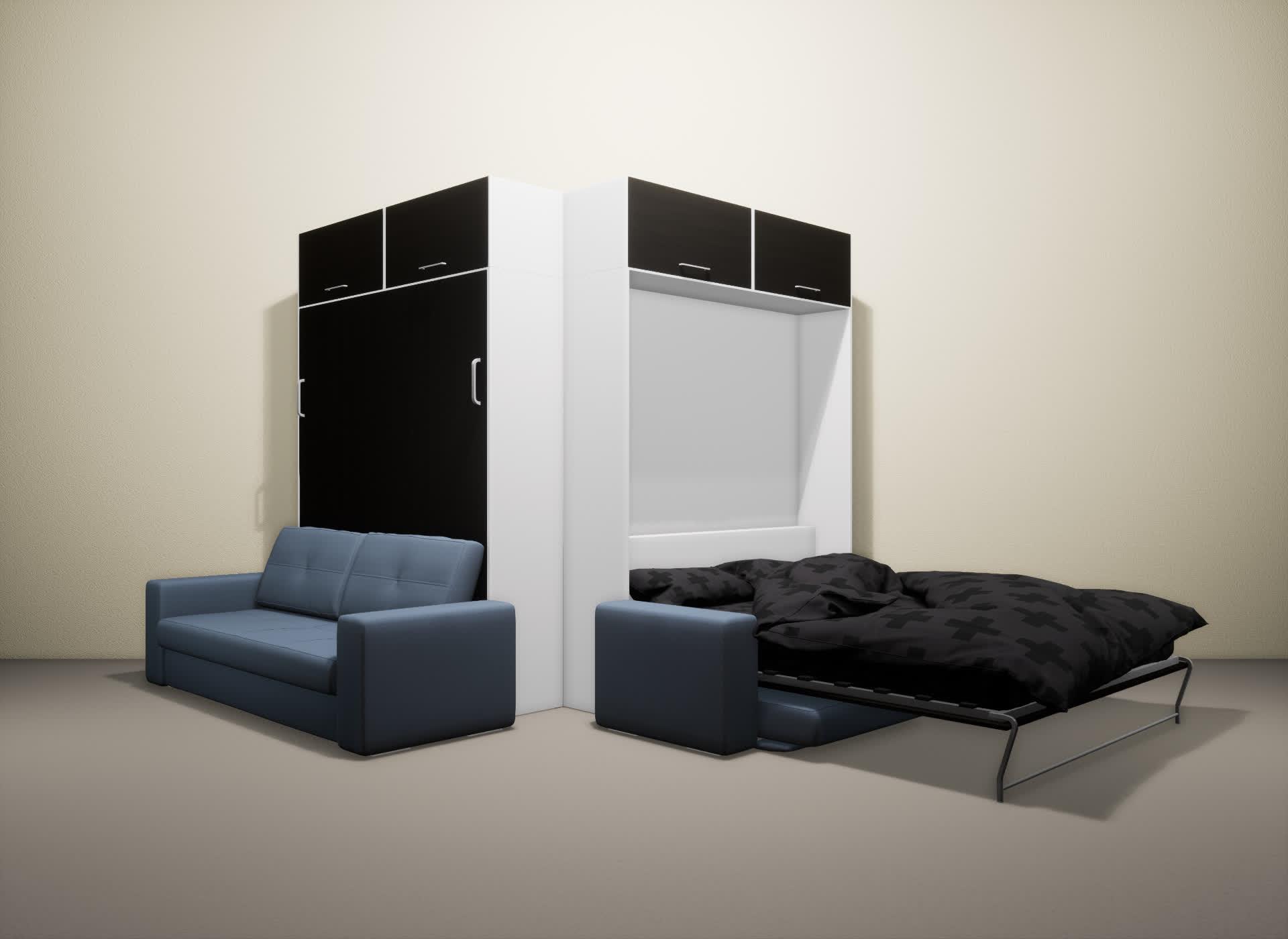 Шкаф-кровать SMART HOME Гамма белый/венге