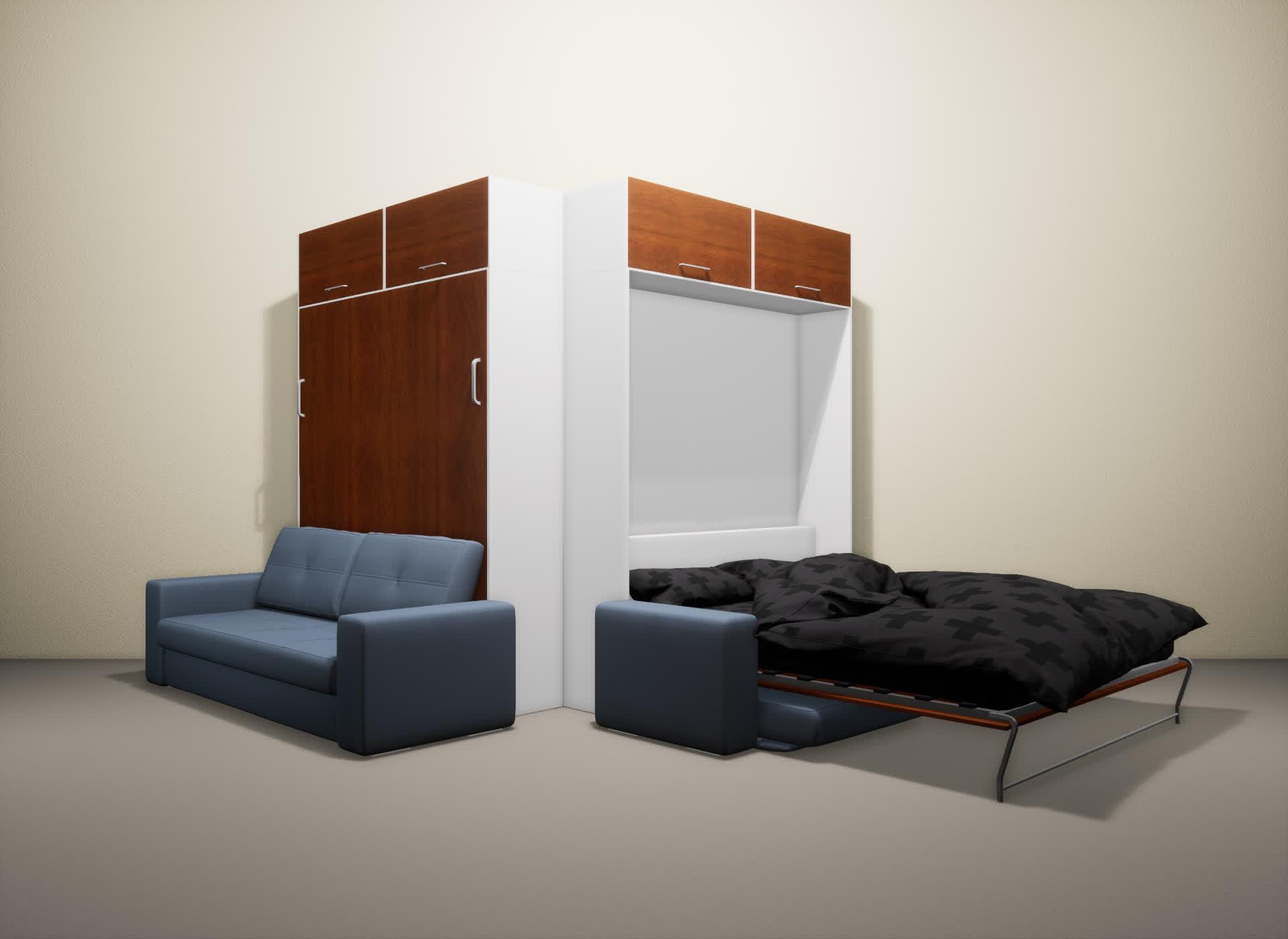 Шкаф-кровать SMART HOME Гамма белый/яблоня